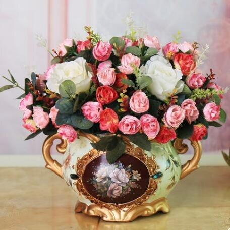 Europese stijl bloem decoratie, bloem kamer, valse bloem, potplanten, bloemstuk. - 4