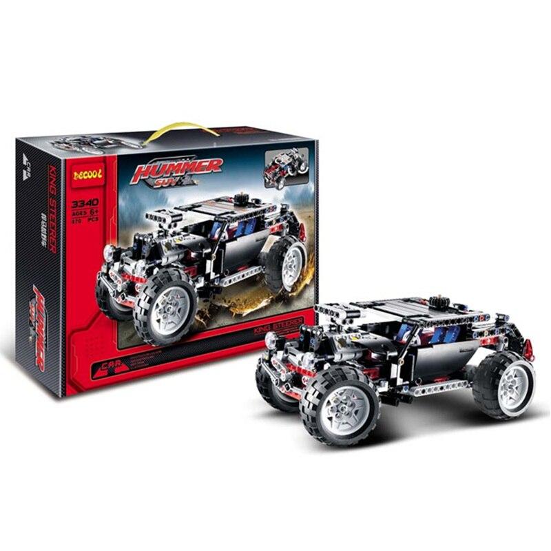 Décool 3340 (470 pièces) Transport Hummer SUV voiture de course Construction 3D assembler modèle blocs de Construction enfants apprentissage jouets cadeau