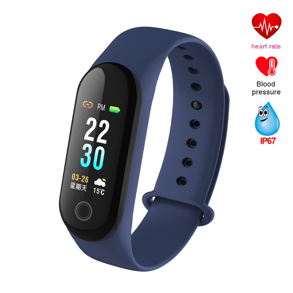 Smart Bracelet Band Fitness Bracelet Wristband Color Screen Heart Rate Tracker Blood Pressure PK Mi Band 3 Smart Watch Band smart watch m19 heart rate fitness bracelet sleep monitor smart tracker blood pressure smart band color screen band pk mi band 3