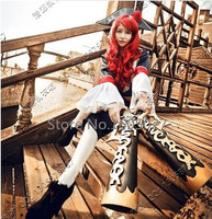 Movie Miss Fortune Cosplay Anime Costume Halloween Uniform Inner+Coat+Pant+Socks+Hat Custom Any Size