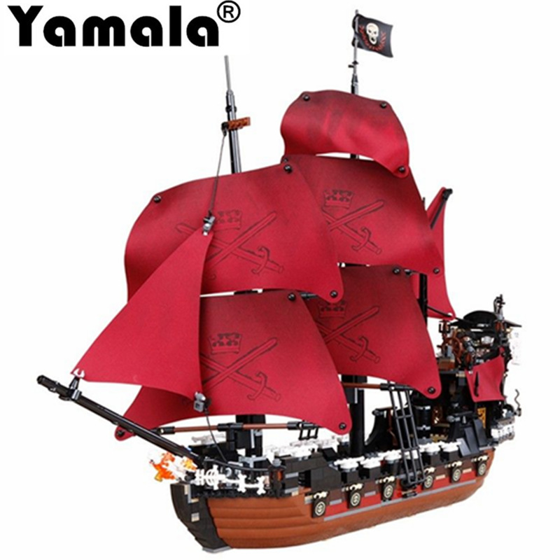 [Yamala] 1151Pcs Pirates Of The Caribbean Queen Anne's Reveage Ship Model Building Kits Compatible With Legoingly gift for child lepin compatible 16009 1151pcs pirates of the caribbean queen anne s reveage model building kit blocks brick toys for kids 4195