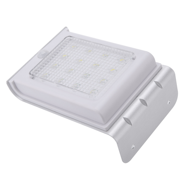 Solar Power Human Body Sensitive Motion Sensor Wall Light 16 SMD3528 LED Light Home Garden Security Lamp Outdoor Water-Resistant