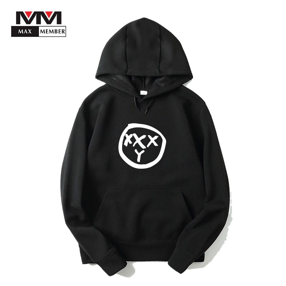 Для мужчин хип-хоп рэппер Oxxxymiron Print Hipster уличная с капюшоном Спортивная Cool Кепки повседневные толстовки пальто