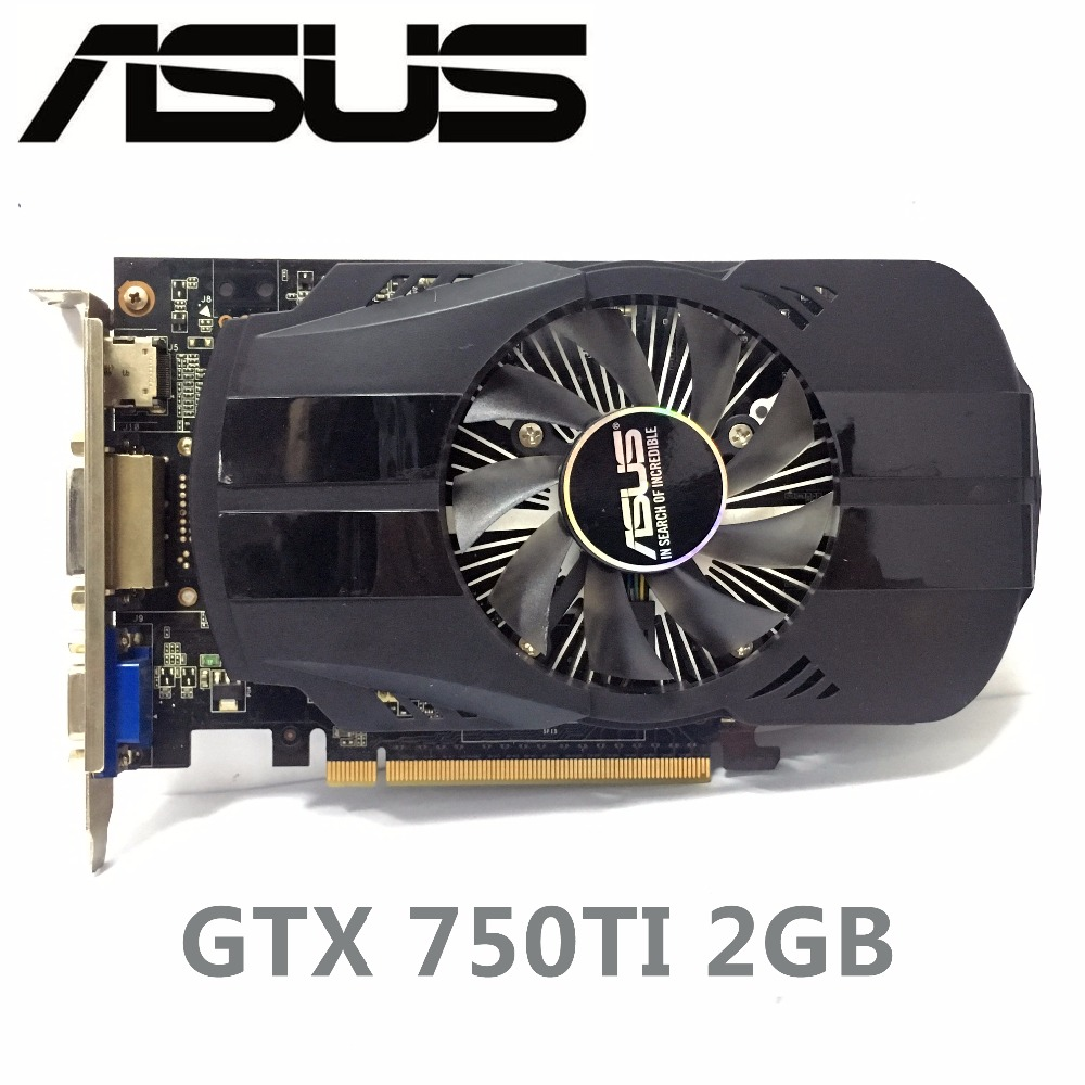 Asus GTX750TI GTX 750TI 2GB D5 DDR5 128Bit PC Desktop PCI Express 3.0 computer Graphics Cards Samsung chipset 2G купить в Москве 2019