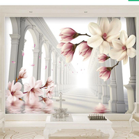 Beibehang 3d Wallpaper Jane Europa Column Wood Orchid Background Wall Health Environmental Protection High Grade W