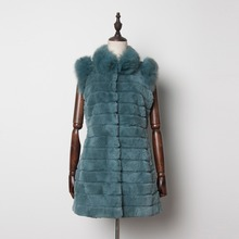 Fur Story 13218A New Design Lady Chic Real Rex Rabbit