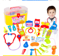 Nuevos juguetes del bebé Play Doctor establece caja de la medicina simulación juguetes médico estetoscopio inyecciones niños regalos envío gratis