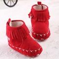 Nueva Moda 4 Colores Otoño Invierno Bebé Botines fahsion caliente borla infant shoes recién nacido niños unisex suave suela del zapato