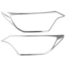 Untuk Toyota Rav4 Rav 4 2016 2017 Aksesoris Eksterior Depan Kepala Cahaya Lampu Headlight Sampul Trims Headlight Lamp Hood 2 Pcs/set(China)