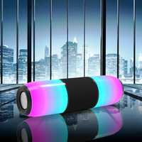 Portable Column colorful Waterproof LED Bluetooth Speaker Wireless Super Bass Mini Speaker with Flashing Lights FM Radio Music