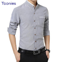 New Brand Clothing Mens Dress Shirts SIngle Breasted Chemise Homme Long Sleeve Slim Fit Shirt Men