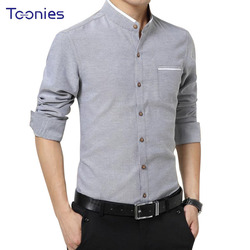 New 2018 Brand Clothes Mens Dress Shirts Business Casual Chemise Homme Long Sleeved Slim Fit Shirt Men Work Office Camisa Social