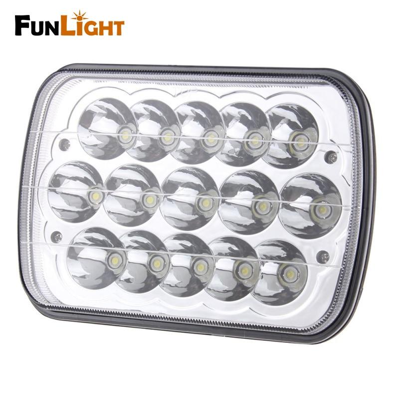 LED 5 x 7 Rectangular LED Headlight Headlamp Replacement H6054 H5054  Off Road Lights for Trucks Jeep Wrangler JK YJ CJ TJ MJ
