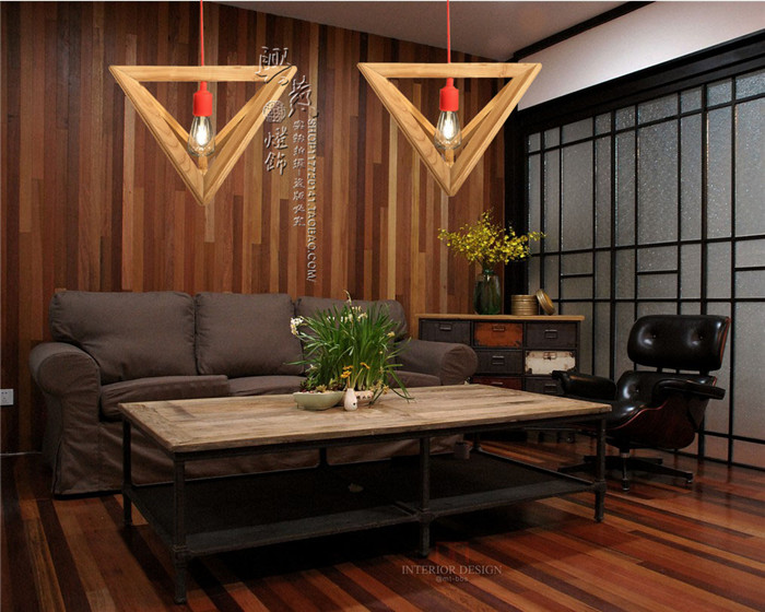solid wooden 1 head pendant lights restaurant cafe coffee shop light personality creative decorative triangle oak pendant lamps in pendant lights from - Light Hardwood Restaurant Decoration