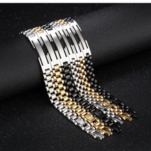 Europe and the United States Fashion Stainless Steel Men Bracelet Sports Jewelry Chain Link Bracelets For Women Couple Jewelry