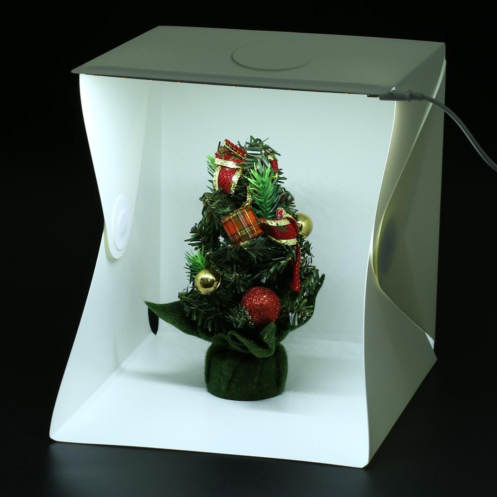 40x40x40 cm Mini Pliage Studio Portable Photographie Mini Studio Pliable Softbox avec Noir/blanc Arrière-Plan doux et Lightbox