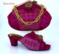 2016 New Fashion Italian Shoes With Matching Bag Set African Style Women Shoes And Handbag Set