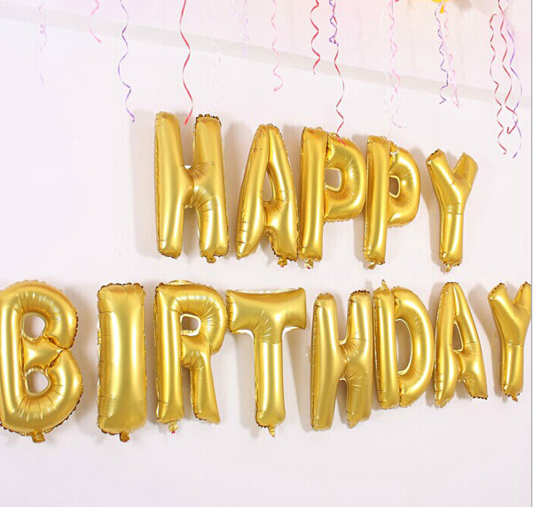 aliexpresscom buy 4pcs set 40 inch silvergold alphabet letters balloons foil balloon birthday new year party wedding decoration balloon from reliable