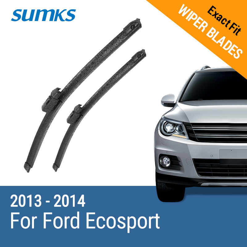 SUMKS Wiper Blades for Ford Ecosport 22&16 Fit Top Lock / Hook Arms 2013 2014