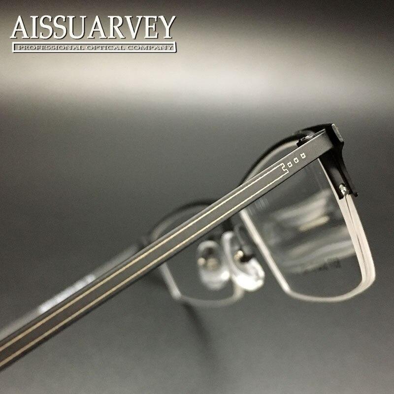 d49f295b7336c Men Eyeglasses Frames Optical Fashion Simple Prescription Eyewear Half Rim  Glasses Frame Black Metal New Cheap Goggles Students-in Eyewear Frames from  ...
