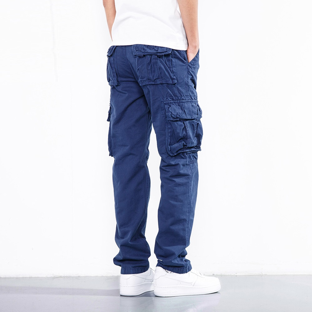 ICPANS Pants Cotton Full Length Khaki Cargo Pants Men Black Army Military Pockets Pants Casual Men Big Size Pants Men Trousers