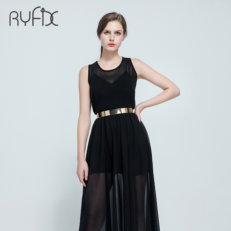 Image 2 - Women Punk Full Metal Mirror skinny Waist Belt 2019 Metallic Gold Plate 3cm Wide Chains Lady ceinture sashes for dresses BL02 2-in Women's Belts from Apparel Accessories