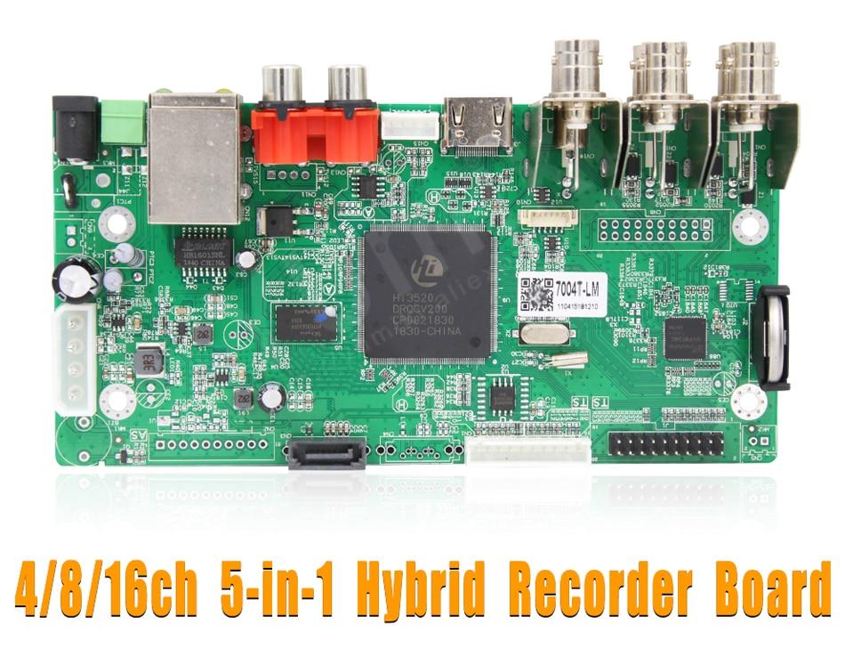 1080n híbrido dvr placa para analógico ahd cvi tvi ip