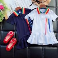 Girl S Shirt Dress 2018 Summer New Korean Fashion Children S Baby Girl Pure Cotton Princess