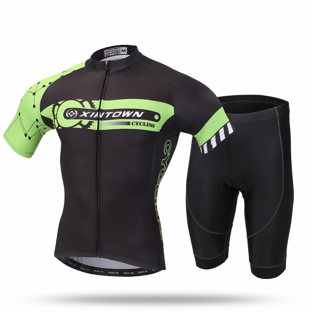 XINTOWN Cycling Jersey Set 2018 New Men s Summer Short Sleeve MTB Bike  Bicycle City Road Ridding Clothing Shirt Shorts Suit-in Cycling Sets from  Sports ... 62f250d8a