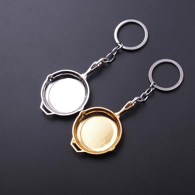 Freeshipping Playerunknowns Battlegrounds Mini Pans Pendant Keychain PUBG key chain Llavero Chaveiro men kids gift