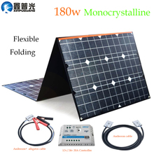 xinpuguang ETFE flexible Solar Panel 18V 180W Portable Foldable Cell 20A USB Controller for Outdoor camping Hiking charger