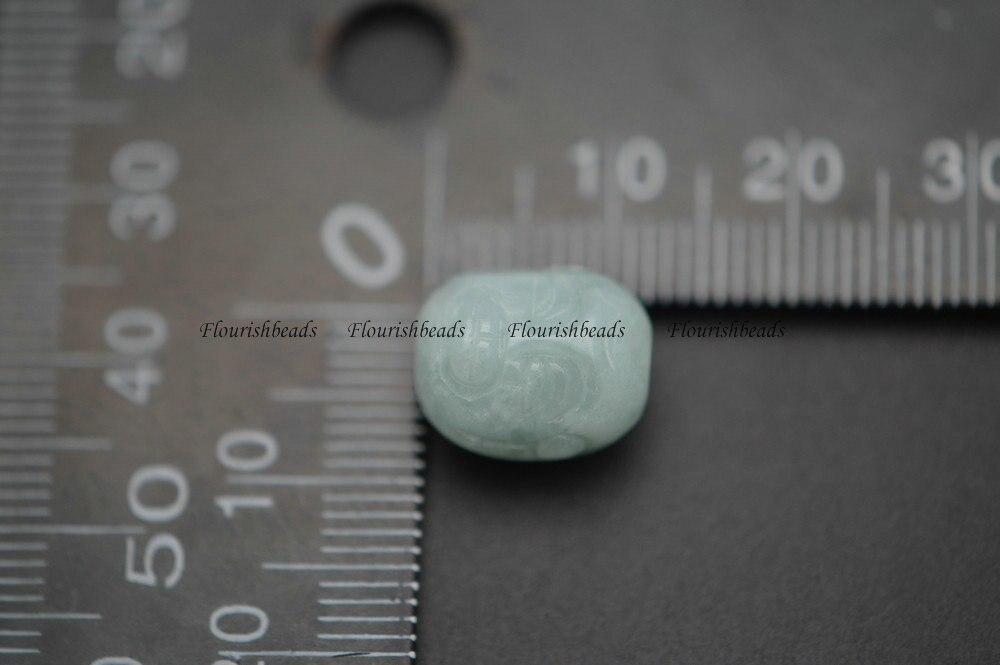 Натуральный зеленый бирманского нефрита 10 мм резные головы Будды камень свободные Бусины DIY расходных материалов для изготовления ювелирн...