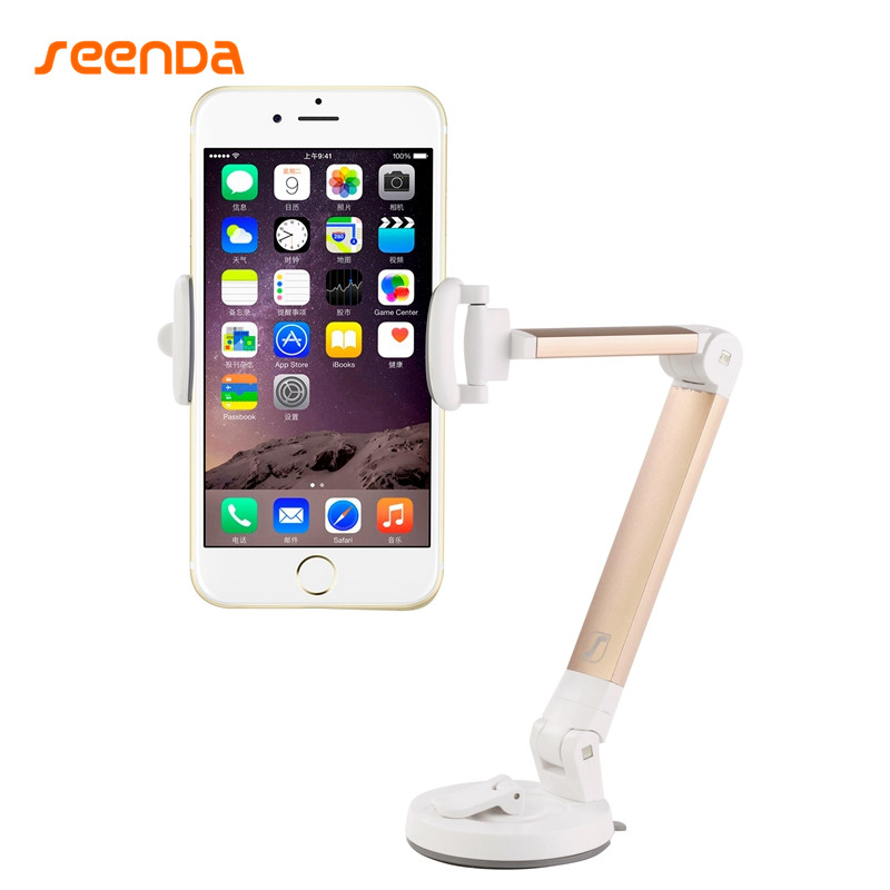SeenDa Hot Sale Car Phone Holder For Tablet Mount Stand 2in1 Desk Fit For iPhone Samsung Xiaomi Holder Phone Stand Tablet Stand