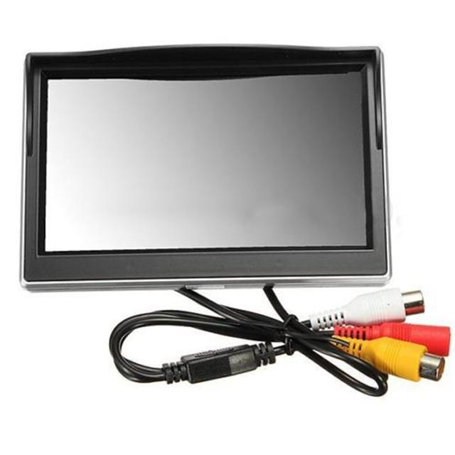"Nuevo 5 ""800*480 TFT LCD Monitor HD de Pantalla para Posterior Del Coche Cámara de Reserva Retrovisor"