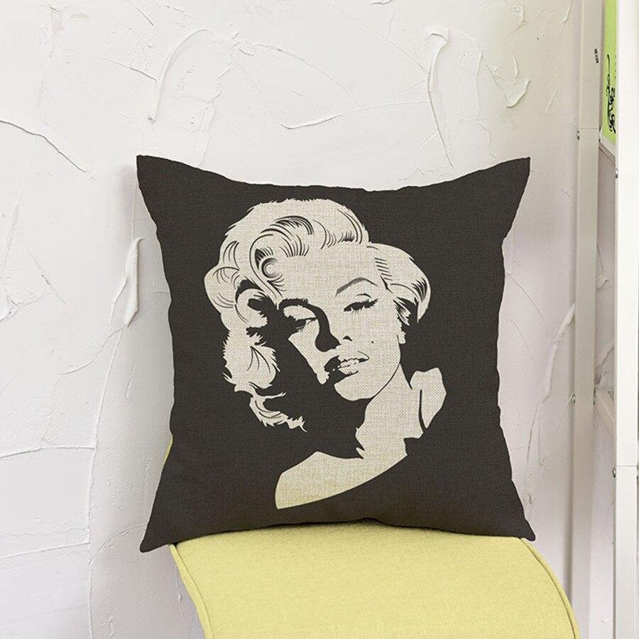 17 modèles rétro marilyn monroe coussin pop art imprimer linge