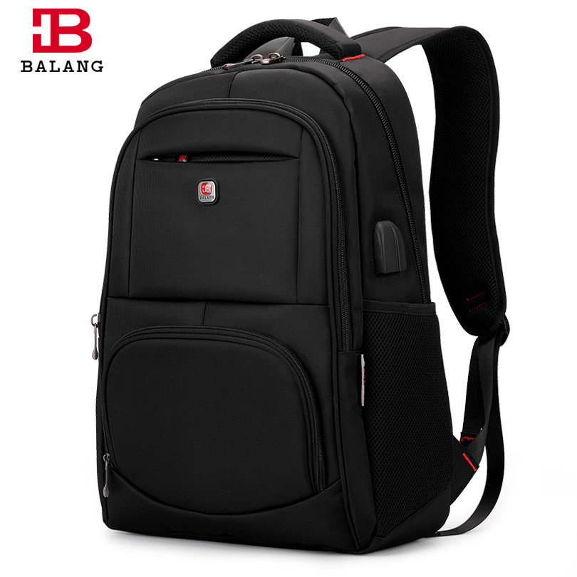 2018 BALANG Brand Men's Waterproof Computer Backpack Women Travel School Bags With USB Charging Port Unisex Business Backpacks ozuko multi functional men backpack waterproof usb charge computer backpacks 15inch laptop bag creative student school bags 2018
