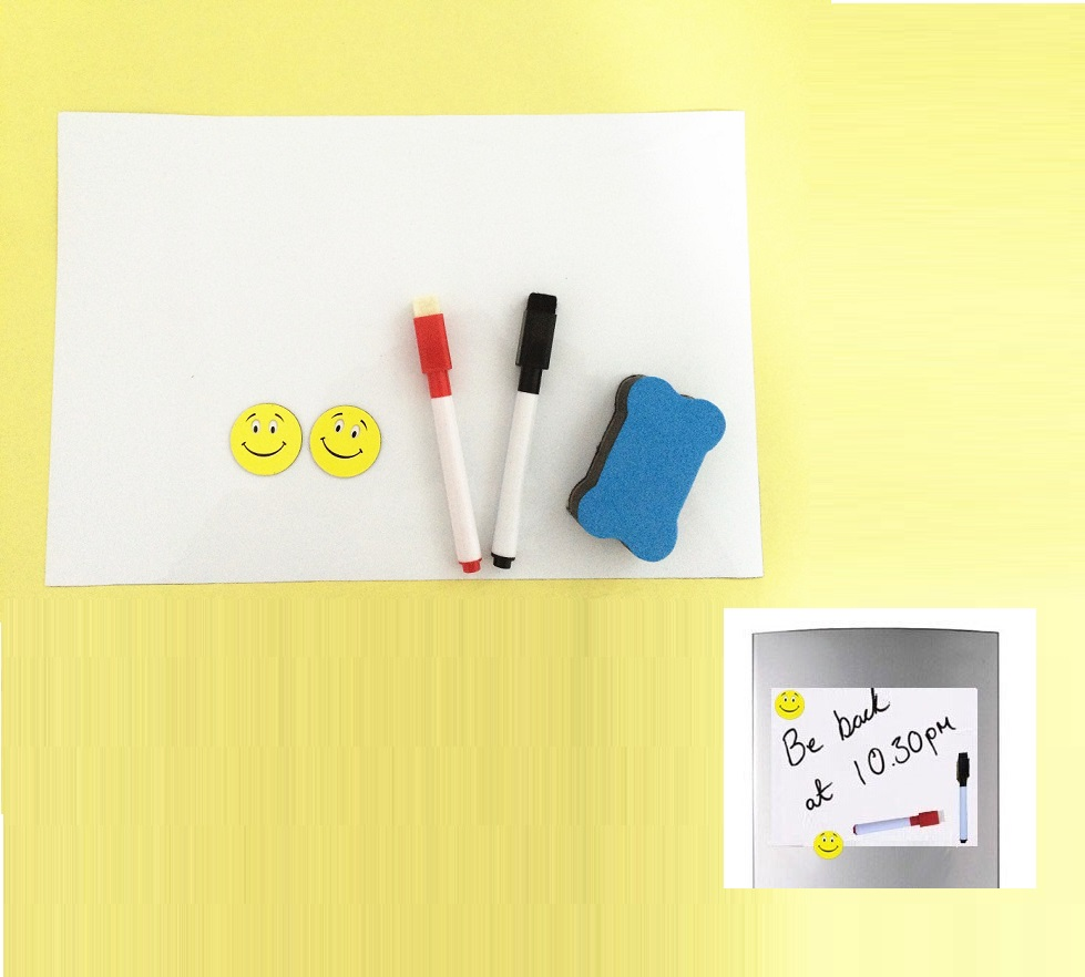 A4 Size Magnetic Whiteboard For Fridge Marker 2 Magnets 210x297mm Kitchen  Message Notice Pad Boards Writing Drawing Dry Eraser In Mobile Phone  Stickers From ...