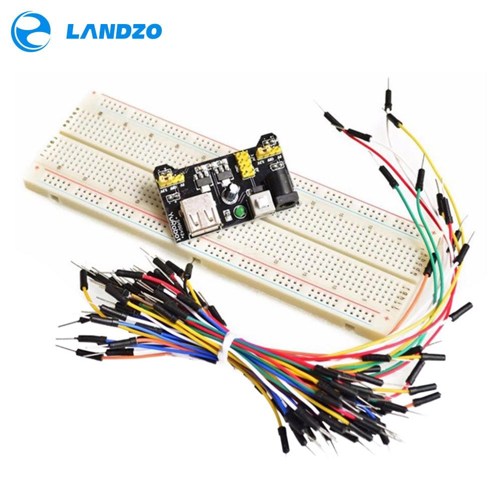 MB102 Breadboard Power Module+MB-102 830 Points Solderless Prototype Bread Board Kit +65 Flexible Jumper Wires
