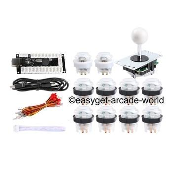 Easyget Arcade DIY Kits Parts USB Encoder + 4/8 Way Joystick + 10 X LED Illuminated Push Button For MAME Games & Raspberry Pi