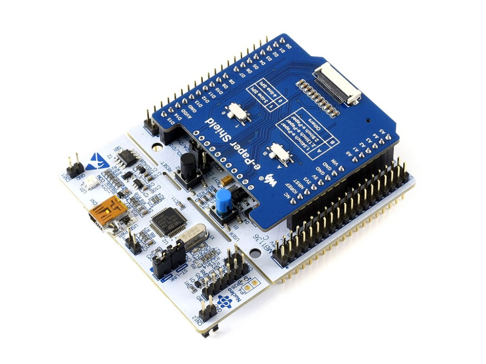 Universal e-Paper Driver Shield for NUCLEO/Ardino supports various Waveshare SPI e-Paper raw panels