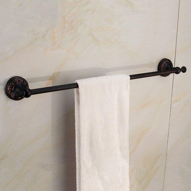 black antique brass wall mounted single towel rail bar bathroom accessories bathroom products towel holder