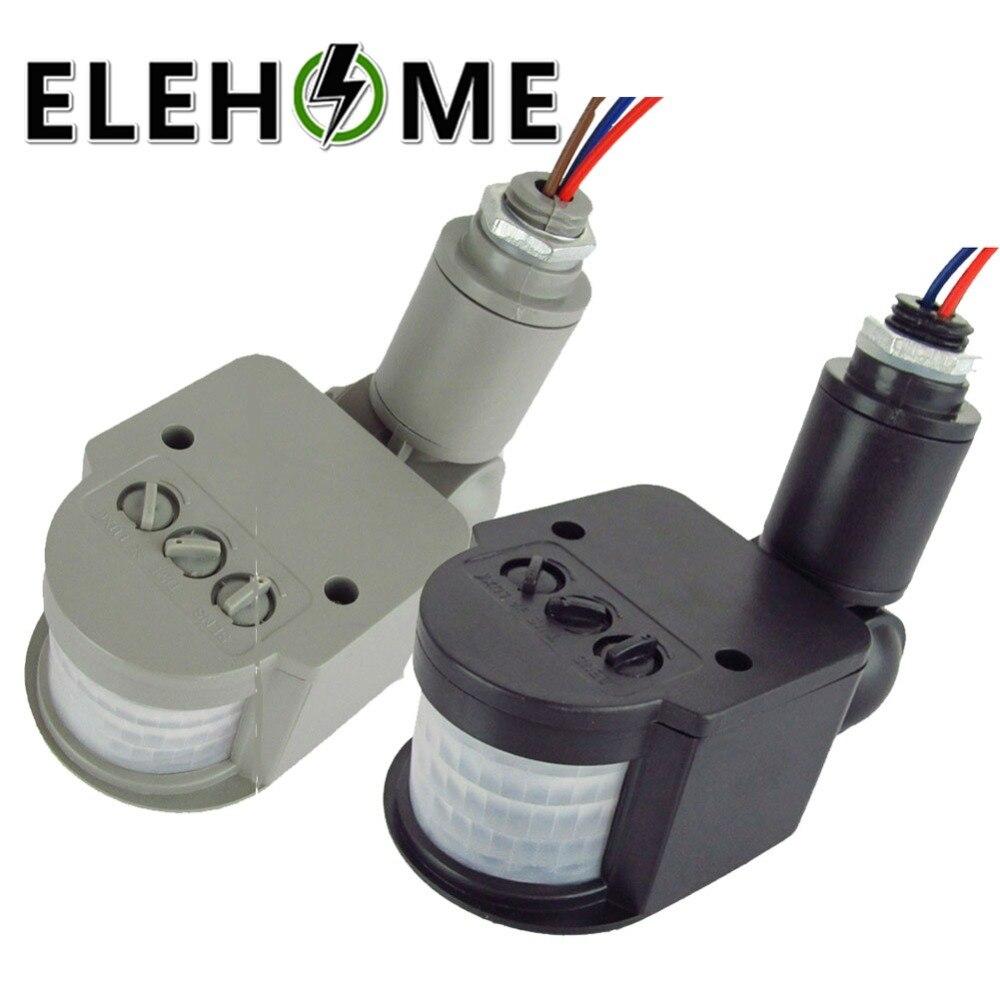 цена на AC 220V Motion Sensor Light Switch Outdoor Automatic Infrared PIR Motion Sensor Switch for LED Light Drop Shipping XF30