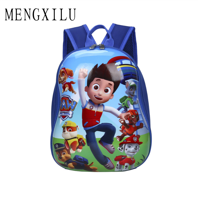 MENGXILU Toddler Children Backpack Cute Dogs School Bag mochila infantil for Kindergarten Boys Girls Kids 3D Cartoon Women Bags