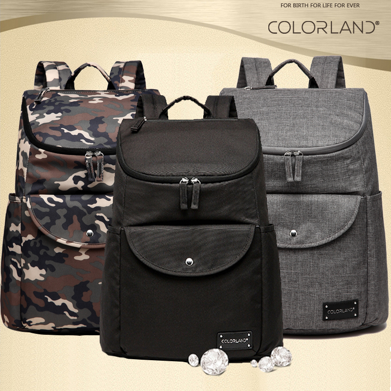 colorland camouflage ackpack diaper bag dad mom new design nappy bag durable baby bags for. Black Bedroom Furniture Sets. Home Design Ideas