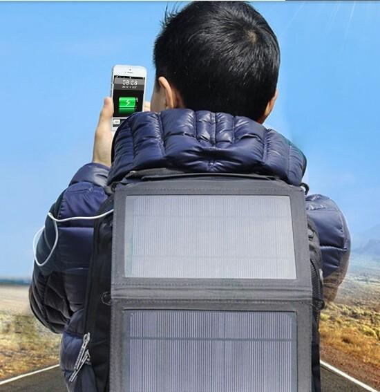 Solar Dobrável 5V Carregador de Energia Solar