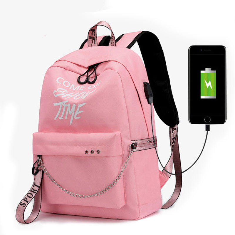 2019 Women's Backpack School Bag For Teenage Girls New Waterproof Nylon A Bag Travel Soulder Bags Female Preppy Style Knapsack