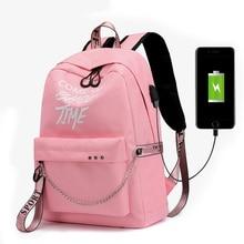 2019 المرأة حقيبة ظهر مدرسية للمراهقات جديد مقاوم للماء النايلون حقيبة سفر Soulder حقائب الإناث نمط Preppy حقيبة