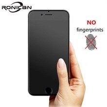 Ronican 아니 지문 프리미엄 강화 유리 화면 보호기 아이폰 6에 대 한 젖 빛 유리 아이폰 6s 매트 유리에 대 한 보호