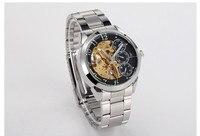 Jurk Stijl multifunctionele Rvs Mechanische Analoge Horloge voor Mannen Zaken Skeleton Uurwerk Sapphire Relojes NW957