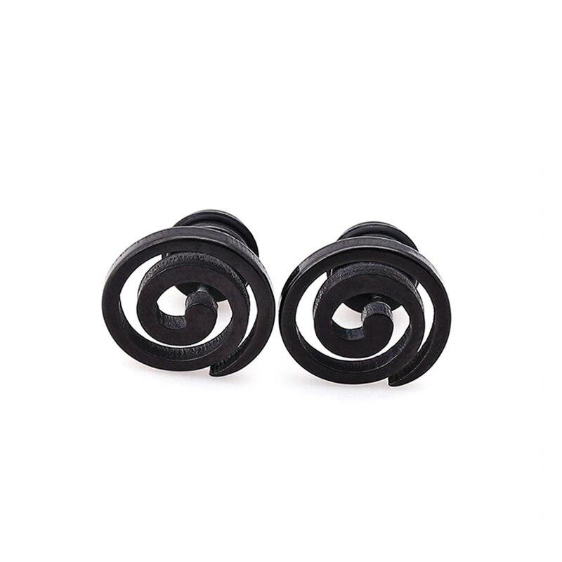 Spiral earrings square stud earrings triangle ear stud woman man unisex fashion ear jewelry 1 pair